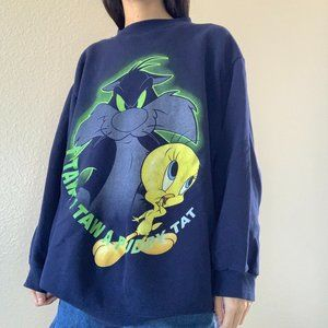 Vintage Tweety Bird + Sylvester Crew Neck Sweatshi